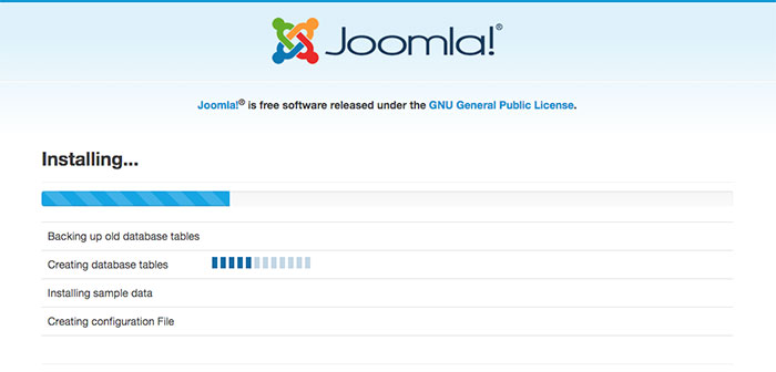 joomla installation sample data