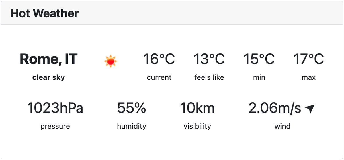 Hot Joomla Weather extension