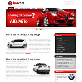 Joomla Cars Template