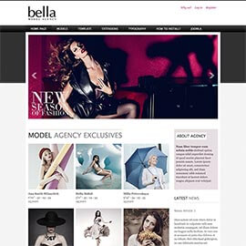 Joomla Model Agency Template with K2 Support
