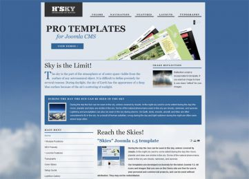 Joomla Sky Template - Hot Skies Image 1