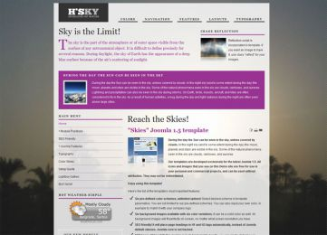 Joomla Sky Template - Hot Skies Image 4