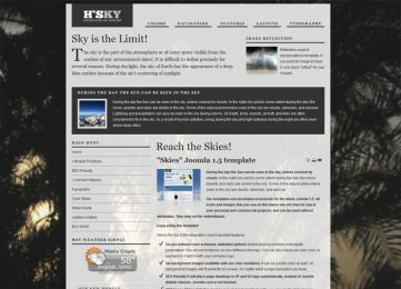 Joomla Sky Template - Hot Skies Image 6