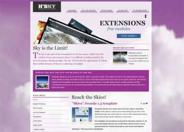 Joomla Sky Template - Hot Skies Image 7