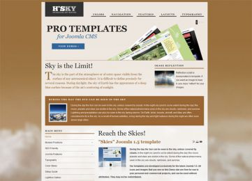 Joomla Sky Template - Hot Skies Image 8