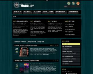 Joomla iPhone template - Hot Mobility Image 1