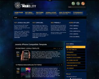 Joomla iPhone template - Hot Mobility Image 2