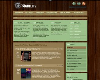 Joomla iPhone template - Hot Mobility Image 3