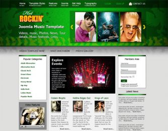 Joomla Music Template - Hot Rockin Image 1