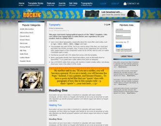 Joomla Music Template - Hot Rockin Image 3