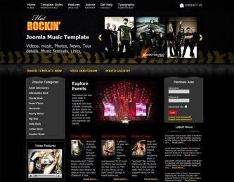 Joomla Music Template - Hot Rockin Image 4