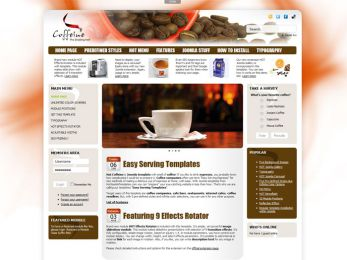 Hot Coffeine - Joomla Cafe Template Image 1