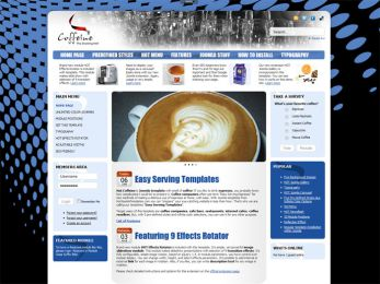 Hot Coffeine - Joomla Cafe Template Image 2