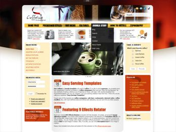 Hot Coffeine - Joomla Cafe Template Image 3