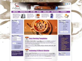 Hot Coffeine - Joomla Cafe Template Image 4