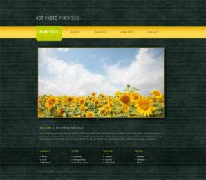 Hot Photo Portfolio - Joomla Portfolio Template Image 1