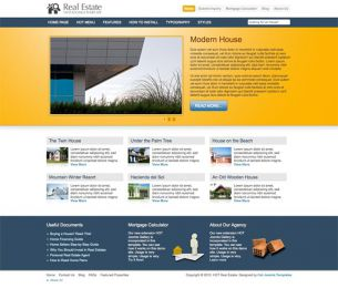 Joomla Real Estate Template - Hot Real Estate Image 1