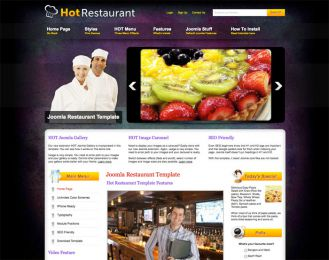 Joomla Restaurant Template - Hot Restaurant Image 3