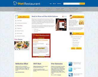Joomla Restaurant Template - Hot Restaurant Image 4