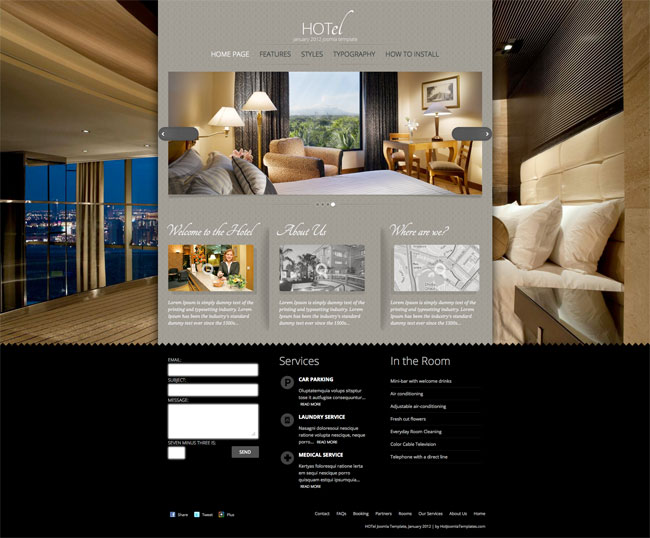 Joomla Luxury Templates Joomla Hotel Template Image 1