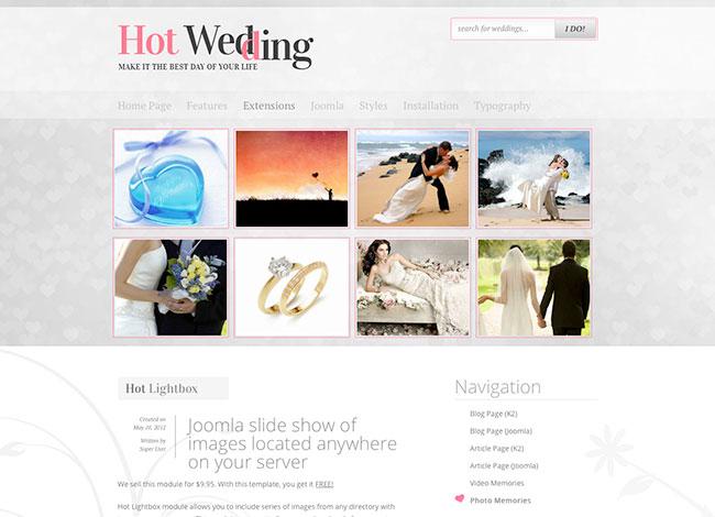 Joomla template wedding