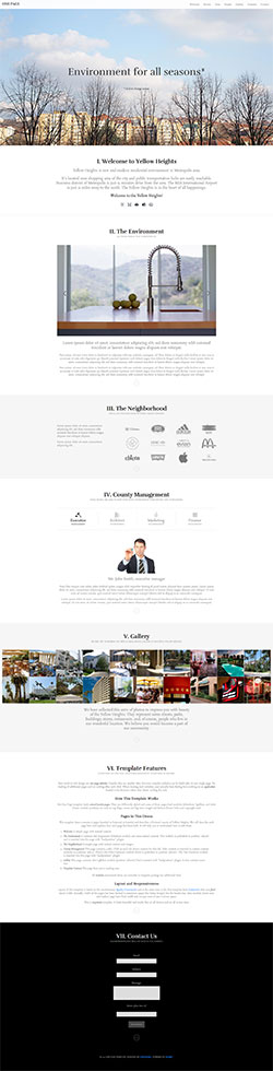Joomla One Page Template
