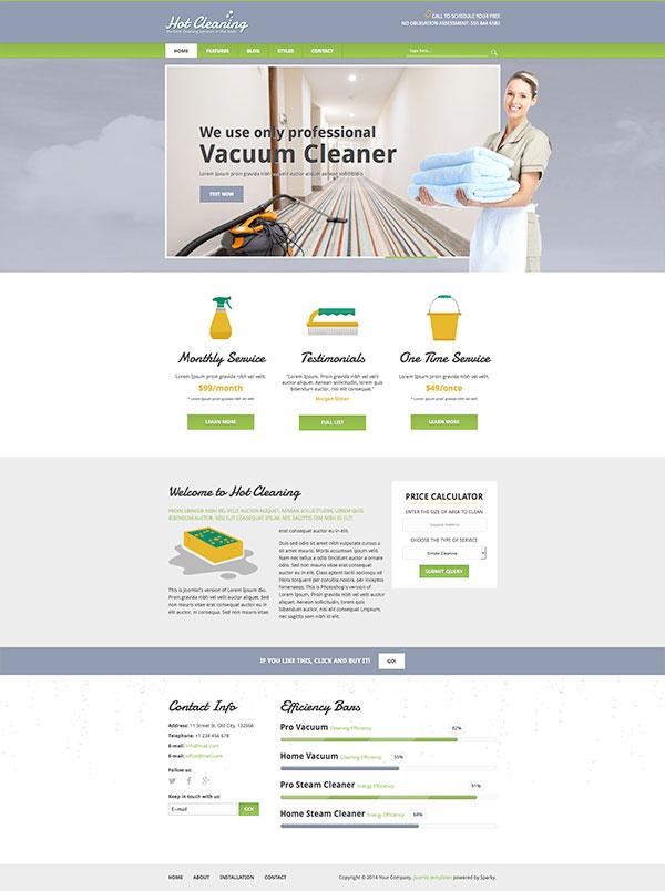 Clean Joomla Templates Joomla Cleaning Template