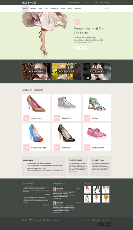Joomla Shoes Template - Hot Shoes Image 3