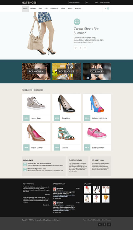 Joomla Shoes Template - Hot Shoes Image 4