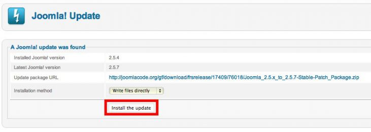 Problems with Joomla 2.5 Update Image 2