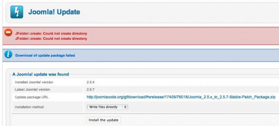 Problems with Joomla 2.5 Update Image 3