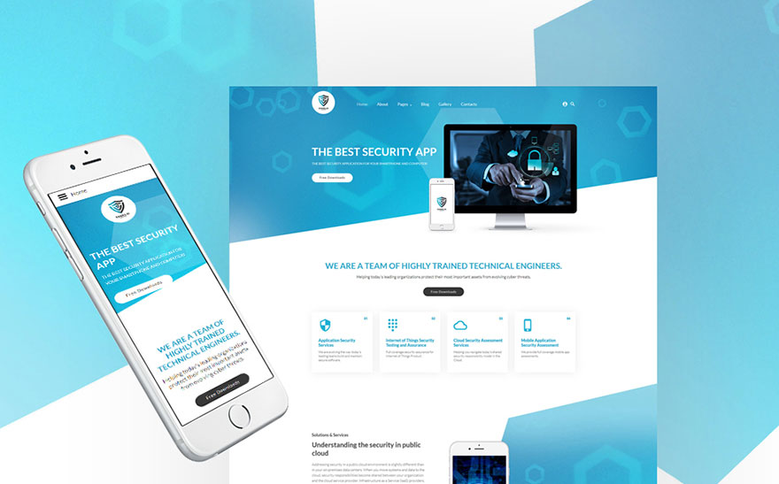 Security App Joomla Template