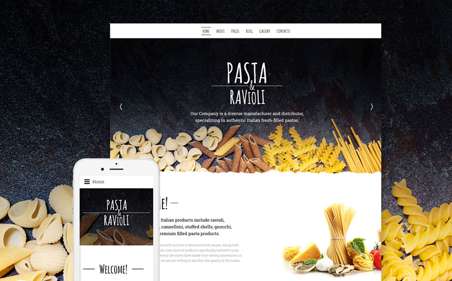 Food And Beverages Joomla Template