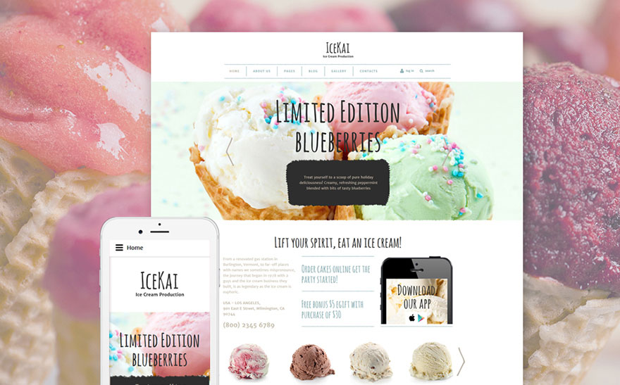 Ice Cream Joomla Theme