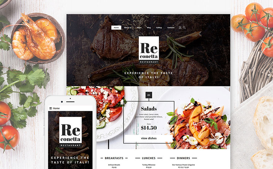 Cafe And Restaurant Joomla Theme