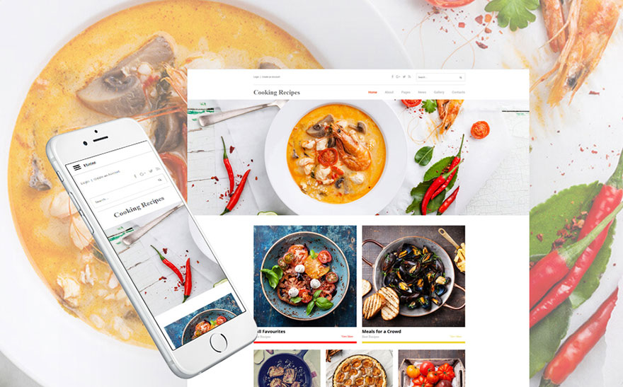 Cooking Recipes Responsive Joomla Template