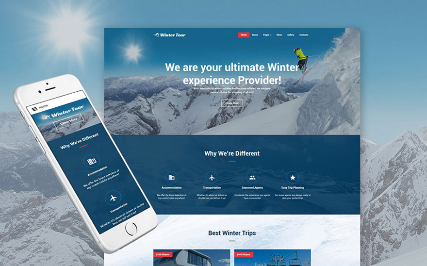Online Travel Agent Joomla Theme