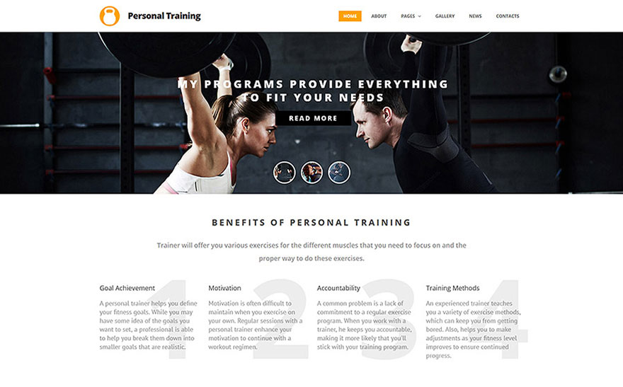 Motivational Sport & Healthy Lifestyle Joomla Templates