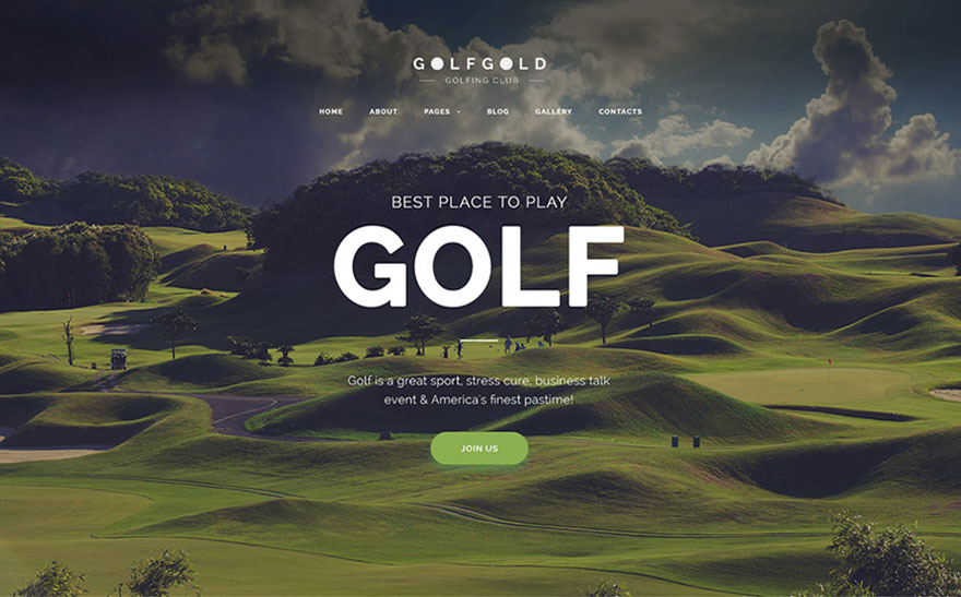 Golfing Club Joomla Template