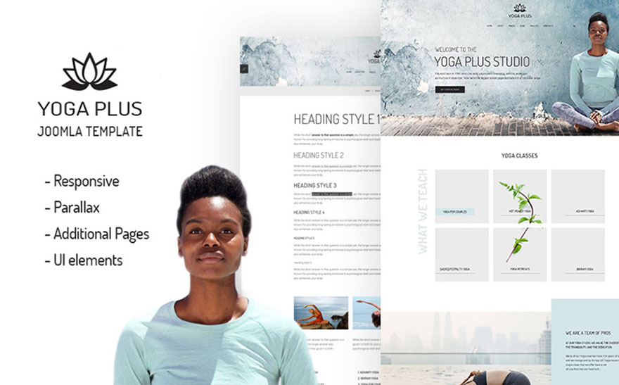 Yoga Plus Joomla Template