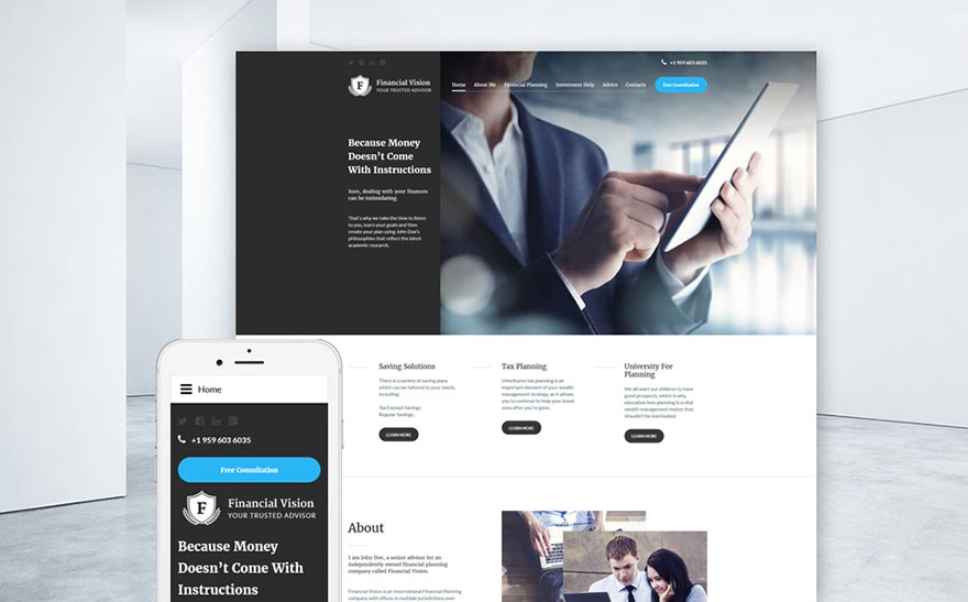 Financial Advision Joomla Template