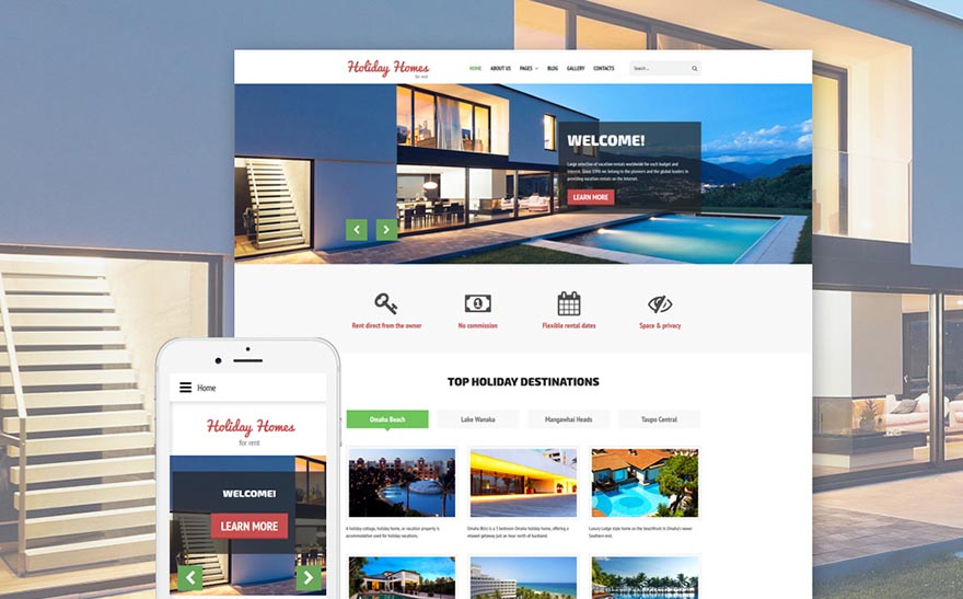 Holiday Homes Real Estate Joomla Template