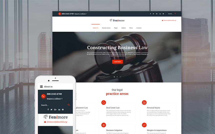 Fenimore Attorney & Law Services Joomla Template