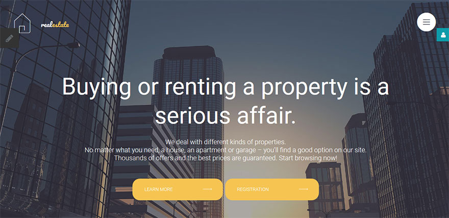 Real Estate Co Responsive Joomla Template