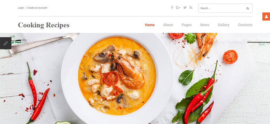 Responsive Joomla Template for Cooking Recipes Site
