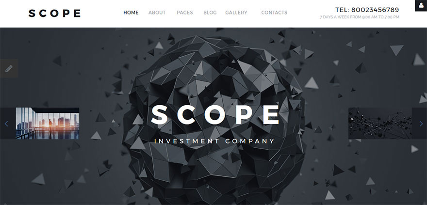 Responsive Joomla Template for Financial & Investment Companies