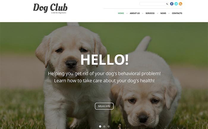 Dog Instructor Joomla Template