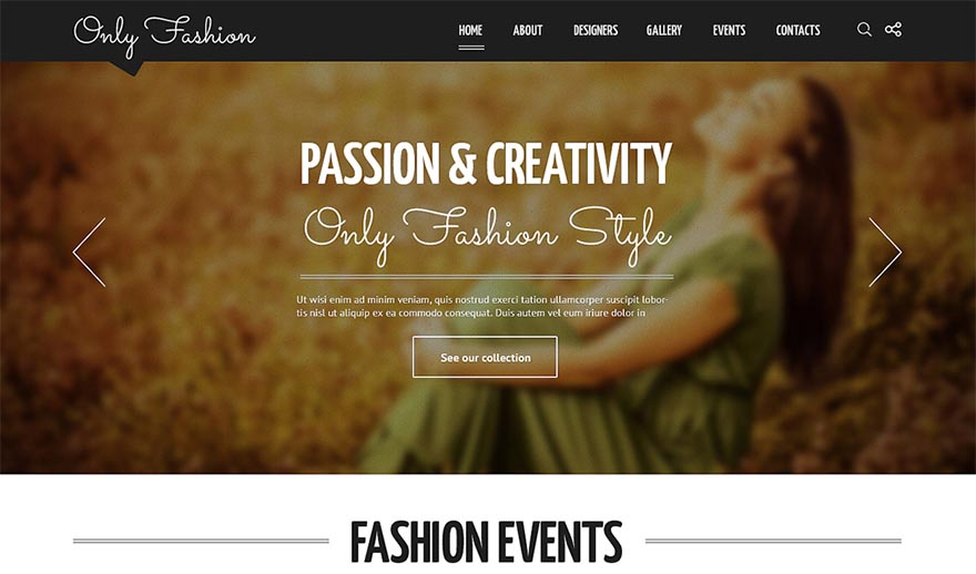 Fashion Blog Responsive Joomla Template in Ember Colors