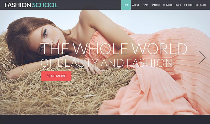 Responsive Joomla Template for Fashion School