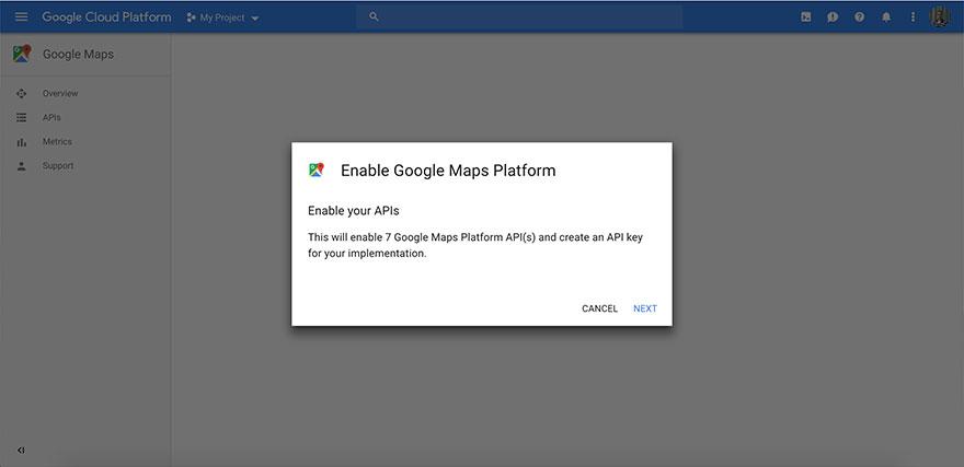 Obtain Google Maps API from Google.com - Step 4